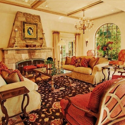 Designsmall Living Room on Interior Living Room On Tuscan Color Schemes Design Ideas Pictures