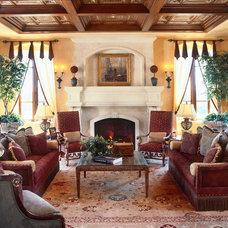 Mediterranean Living Room by Debra Kay George Interiors