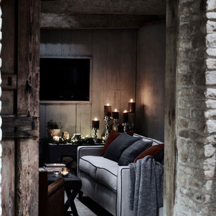 This is an example of a rustic living room in London.