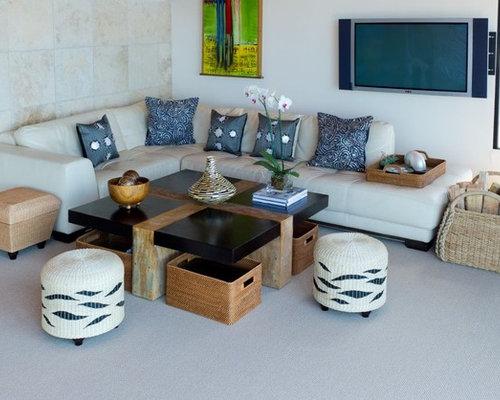 Tropical Modern Living Room Houzz