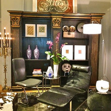 Eclectic Living Room by Décor NYC Luxury Home Consignment Gallery