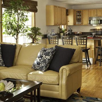 Cream Leather Sofa Home Design Ideas Pictures Remodel
