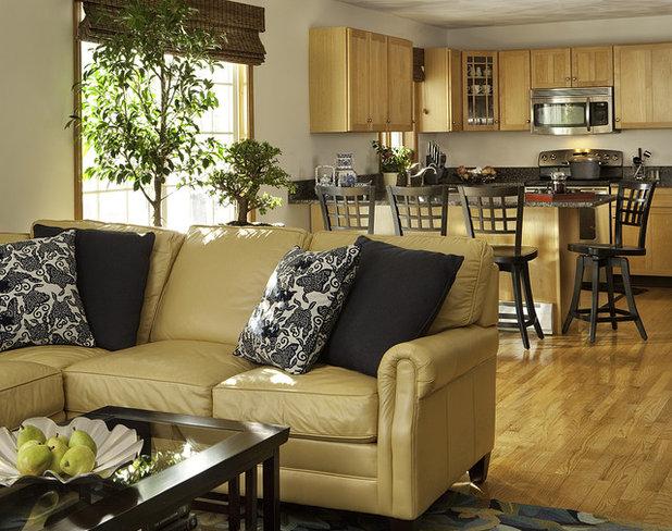 Contemporary Living Room by Decorating Den Interiors-Strok Design Team