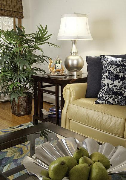 Asian Living Room by Decorating Den Interiors-Strok Design Team