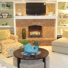 Contemporary Living Room by Redesign Right, LLC