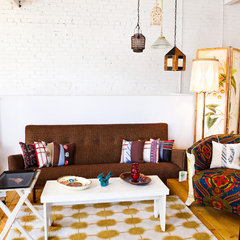 eclectic living room by Vintage Renewal