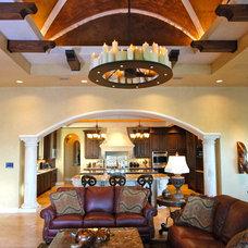 Mediterranean Living Room by Stadler Custom Homes