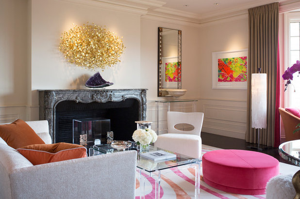 Contemporary Living Room by Margot Hartford Photography