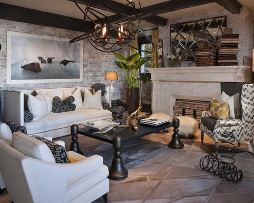Inspiration For An Eclectic Enclosed Living Room Remodel In San Francisco With A Standard Fireplace