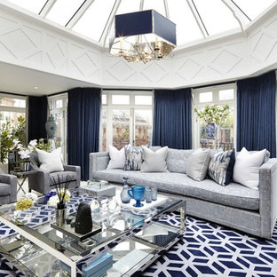 Design Ideas For A Large Classic Formal Enclosed Living Room In Surrey With  White Walls And