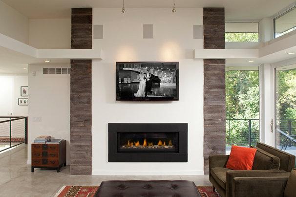 Contemporary Living Room by John Kraemer & Sons