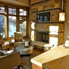 Contemporary Living Room by Aleece Sligar Interior Designer