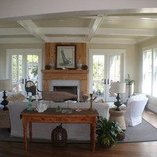 Beach Style Living Room by Cole Design Studio, LLC