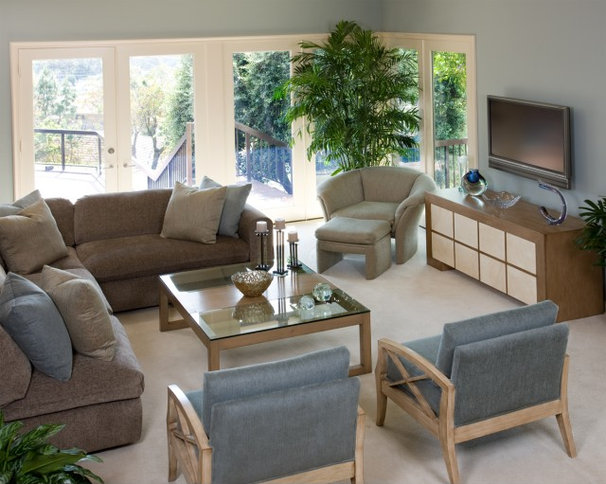 Contemporary Living Room by Alpha Design Group
