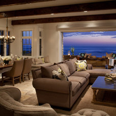 Beach Style Living Room by Laura Kehoe Design