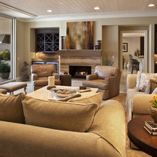 Contemporary Living Room by H. Stern Interiors