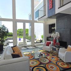Contemporary Living Room by DRP International Design, Inc.