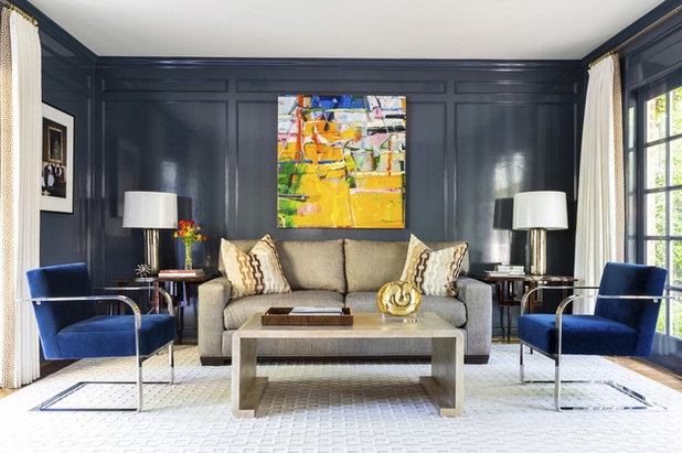 Transitional Living Room by Chandos Interiors