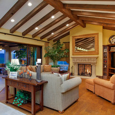Mediterranean Living Room by McCullough Design Development Inc