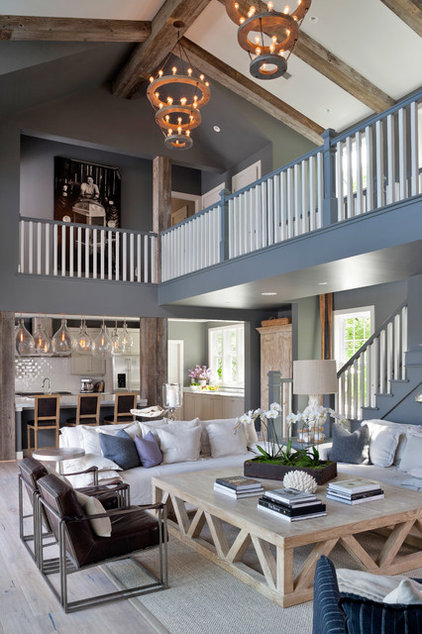 Beach Style Living Room by FauxWoodBeams