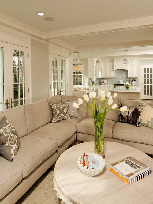 Gray And Beige Living Room | Houzz