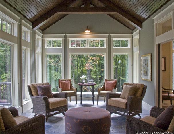 Traditional Living Room by Falcon Custom Homes
