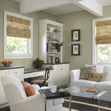 Transitional Living Room by Kate Jackson Design