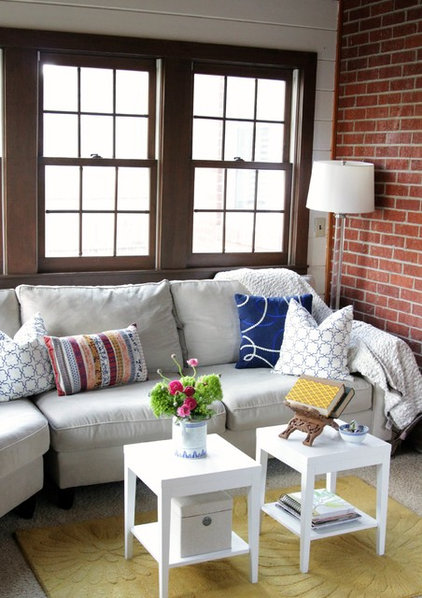 Eclectic Living Room by Heather Freeman Design Co.