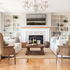Beach Style Living Room by REEF Cape Cod's Home Builder