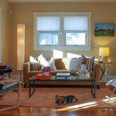 Eclectic Living Room by Lauren Mikus