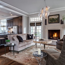 Transitional Living Room by Earthwood Custom Remodeling, Inc.