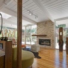 Contemporary Living Room Denver Mid-Century Ranch