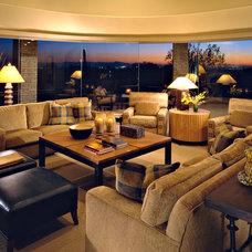 Contemporary Living Room by Linda Seeger Interior Design