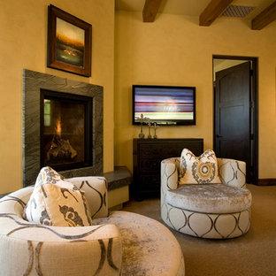 Photo of a mediterranean living room in Phoenix.