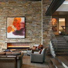 Contemporary Living Room by David Michael Miller Associates