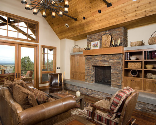 Built ins around fireplace houzz for Built in designs living room