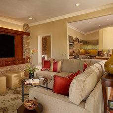 Traditional Living Room by Cheryl Morgan Designs