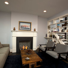 Transitional Living Room by Four Brothers LLC