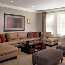 Contemporary Living Room by Design Connection, Inc