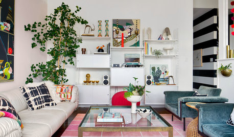 Stickybeak of the Week: Vintage Finds in a Colourful Living Room