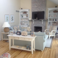Beach Style Living Room by Joe Rivera for Ethan Allen Water Mill