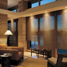 Contemporary Living Room by Aero Drapery & Blind