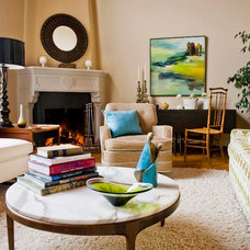 Eclectic Living Room by John K. Anderson Design