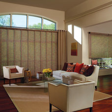 Modern Living Room by Accent Window Fashions LLC