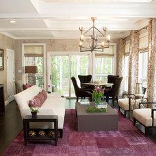 Contemporary Living Room by Michael Mariotti Interior Design
