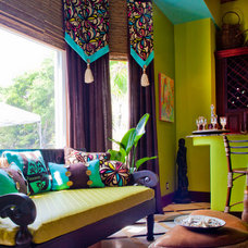 Tropical Living Room by Francesca Morgan Interiors