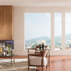 Contemporary Living Room by Milgard Windows & Doors