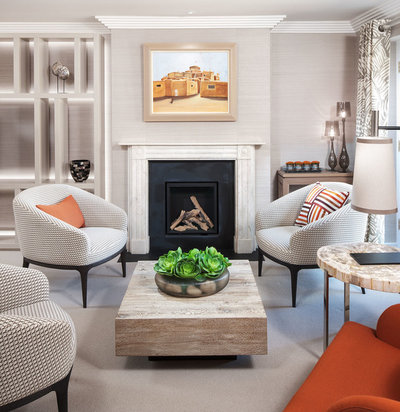 Transitional Living Room by Neale Smith Photography