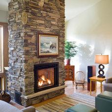Craftsman Living Room by Design Build Team Inc