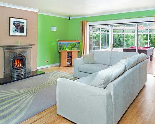 soggiorno con pareti verdi glasgow: foto e idee per arredare - Soggiorno Pareti Verdi 2